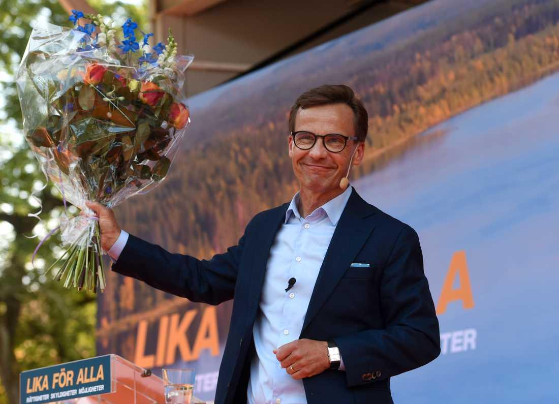 Moderatledaren Ulf Kristersson sommartalar i Strängnäs.