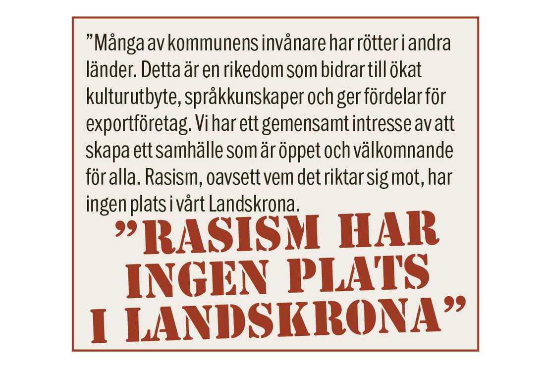 Så här skriver Joakim Andersen för MP...
