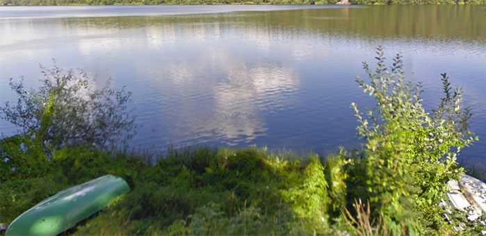 Sjön Norrviken, där Kärleksudden ligger.