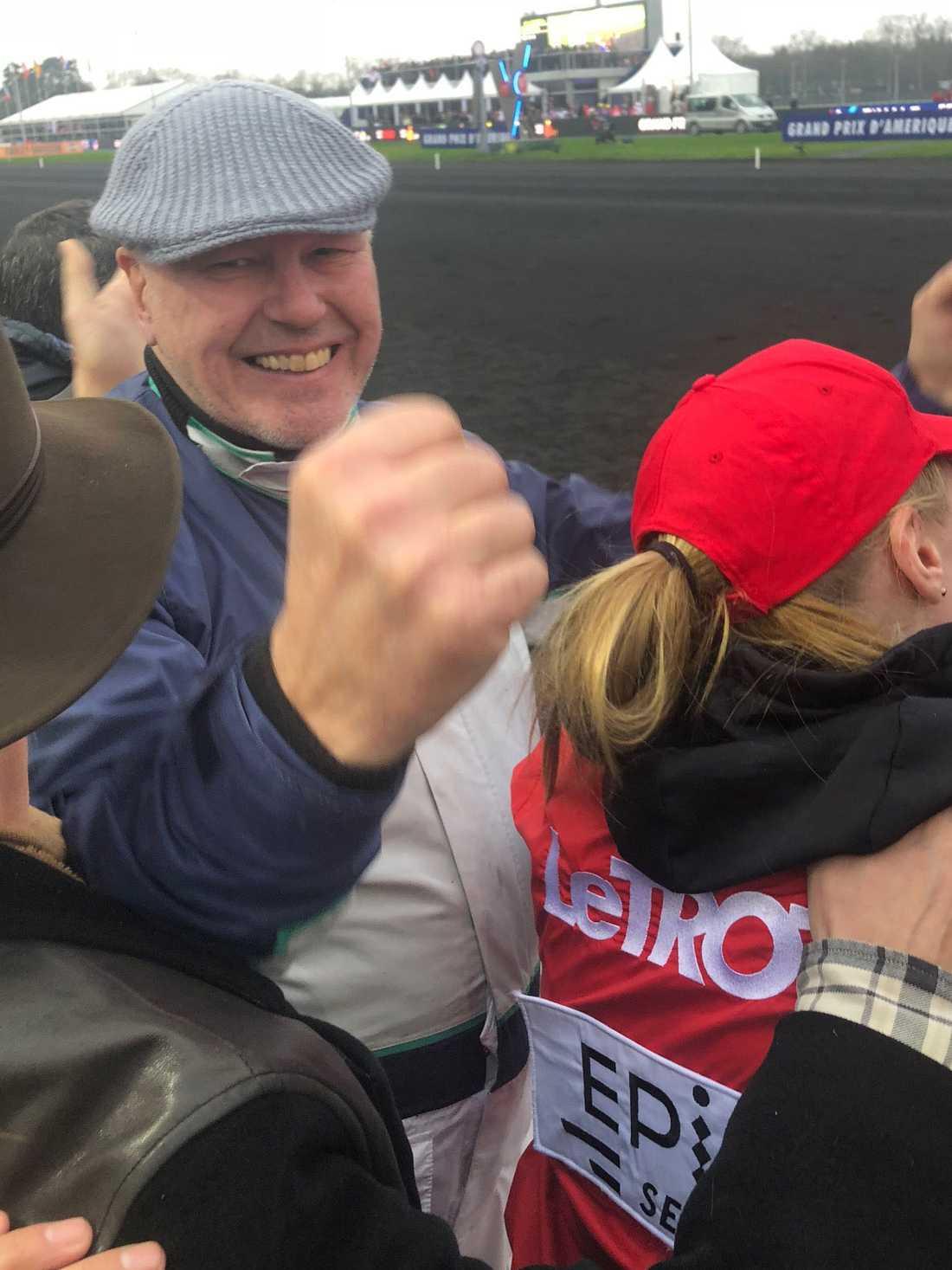 Här jublar Timo Nurmos efter supersegernn