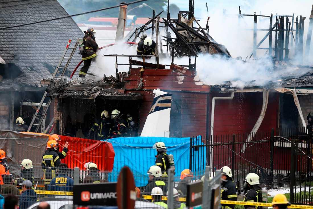 Sex personer omkom i kraschen i Puerto Montt i Chile.