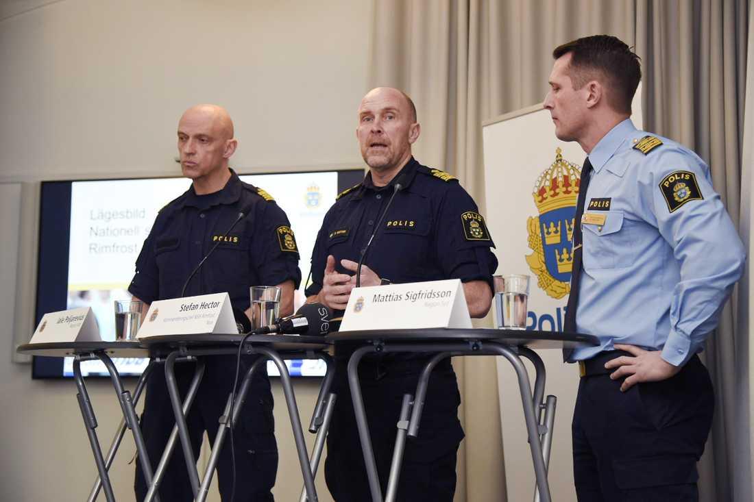 Jale Poljarevius, region Mitt, Stefan Hector, kommenderingschef för Rimfrost och Mattias Sigfridsson, region Syd.