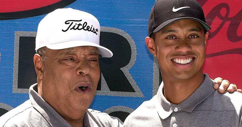Earl och Tiger Woods.