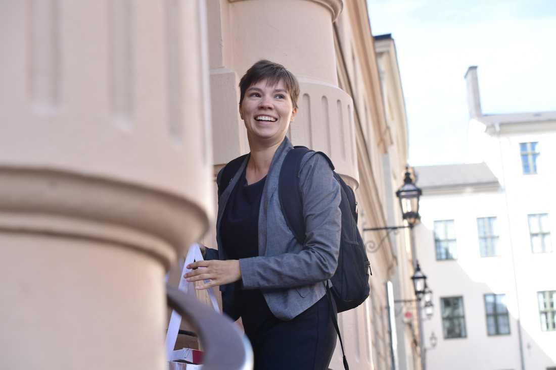 Annika Hirvonen (MP) är en av utmanarna. Arkivbild