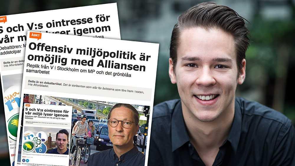 Den grönblåa majoriteten i Stockholm skärper stadens miljö- och klimatmål ytterligare jämfört med de mål som fanns under det rödgrönrosa styret, skriver Lorentz Tovatt (MP).