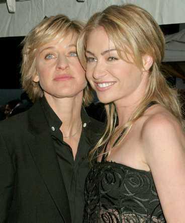Ellen DeGeneres och Portia de Rossi.