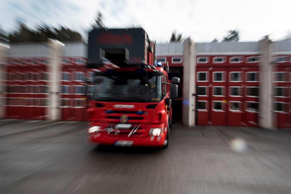 Borlängeborna uppmanades att hålla sig inomhus sedan en brand utbrutit på en soptipp. Arkivbild.