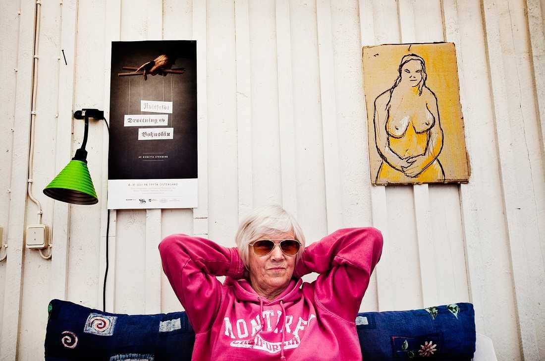 Birgitta Stenberg, 81, är mest känd för sina böcker om ett kringflackande konstnärsliv på kontinenten.