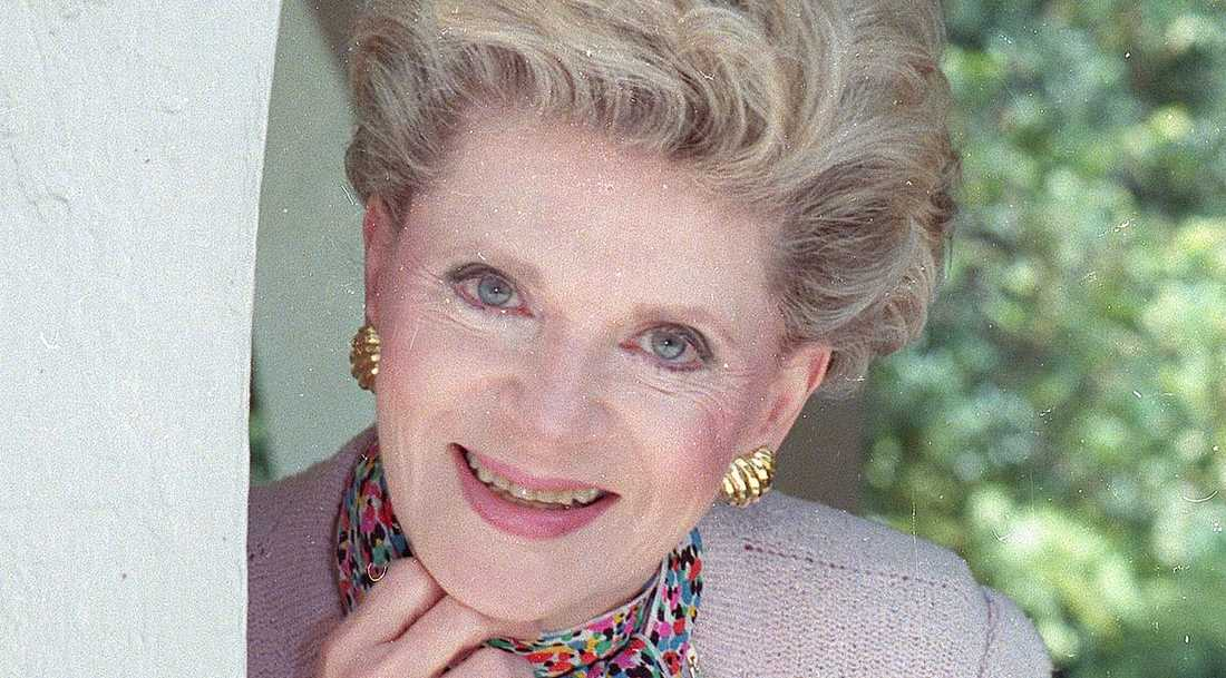 Bästsäljande författaren Judith Krantz avled den 22 juni, 91 år gammal. Här på en bild från 1986.
