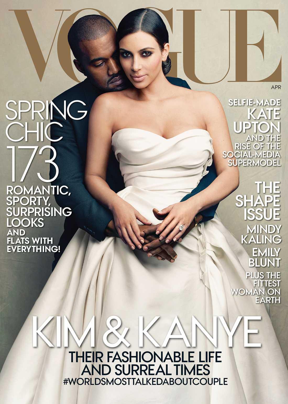 Här är omslaget - som Kanye West och Kim Kardashian pryder.