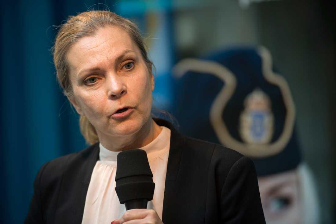 Polisförbundets ordförande Lena Nitz vill stärka upp den svenska poliskåren med norska kollegor. Arkivbild.