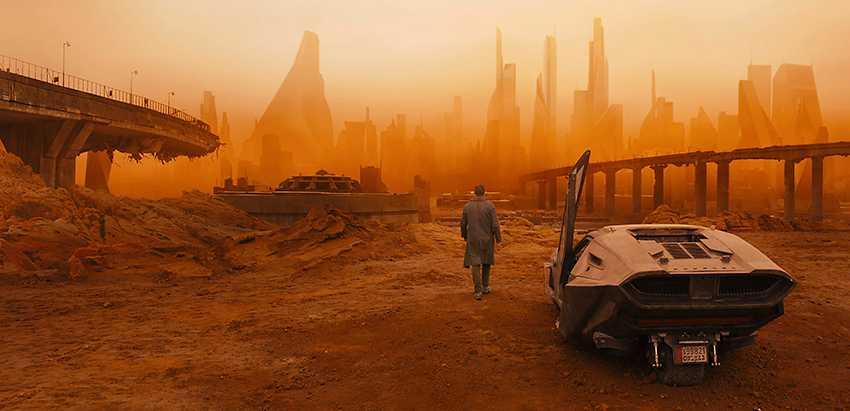 """Scen ur """"Blade runner 2049"""" som hade svensk biopremiär förra veckan."""