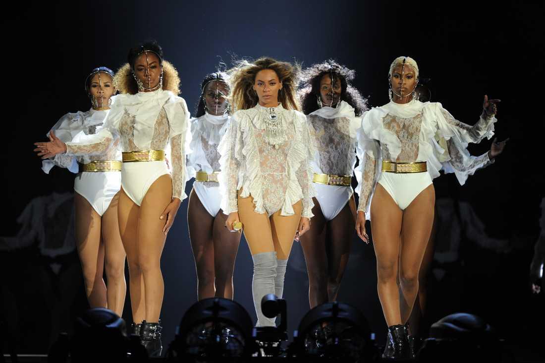 Beyoncé under sin konsert i Miami.