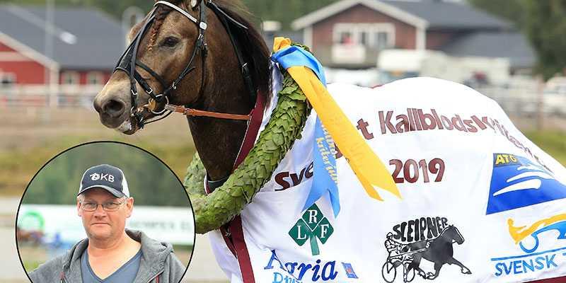 Nicklas Blom från Tierp vann Kallblodskriteriet med Bäcklös Uriel.