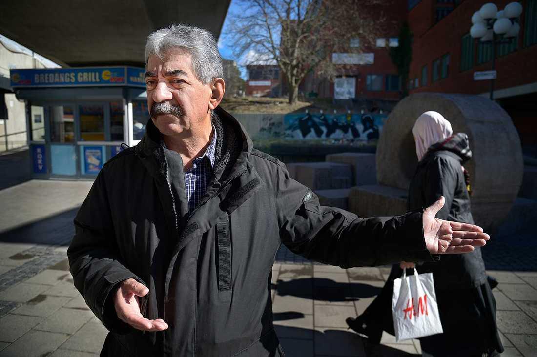 """""""Det blir gäng, det blir bråk, det blir ett helvete"""", säger Ahmed Nikjoo om Bredäng."""