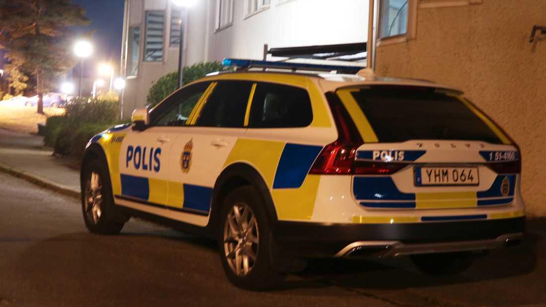 Polisen vid misstänkta mordet på Hisingen i Göteborg.