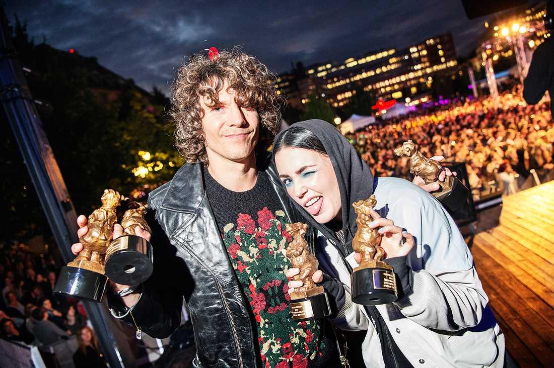 Håkan Hellström och Miriam Bryant 2016.