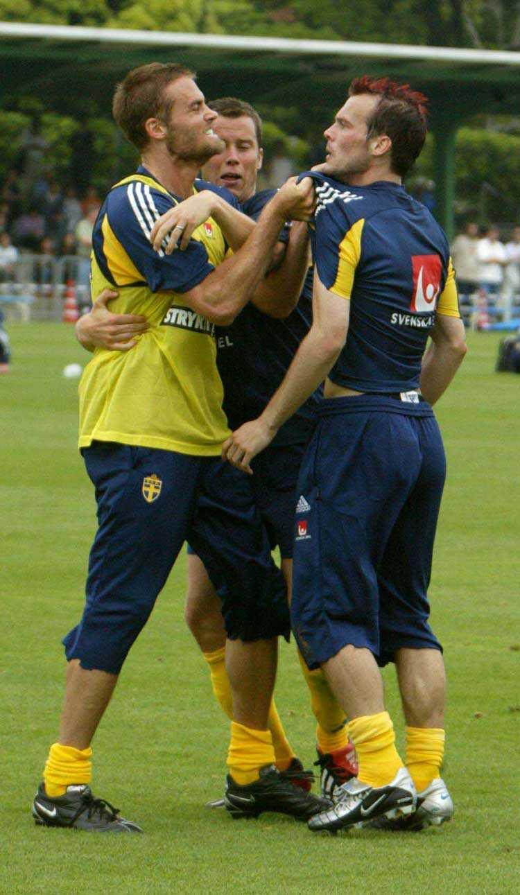 Snacket inför VM 2002 i Sydkorea haandlade mycket om det faktum att Olof Mellberg och Fredrik Ljungberg rök ihop på en träning.