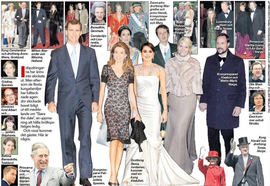 Gästerna Här är några av gästerna på bröllopsfesten. (Klicka för större bild)