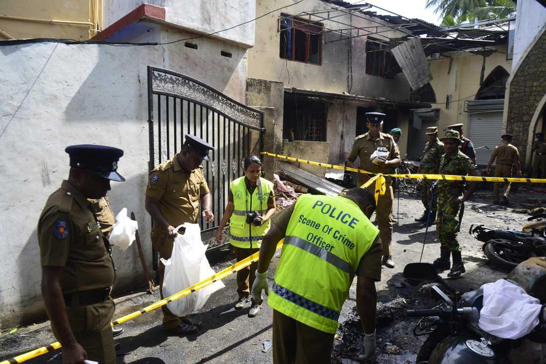 28 personer dog vid Zion Church i Batticaloa i östra Sri Lanka. Av dem var 14 barn.