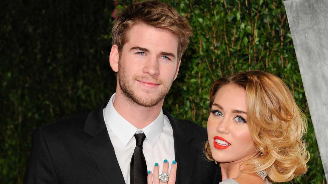Miley Cyrus och Liam Hemsworth.