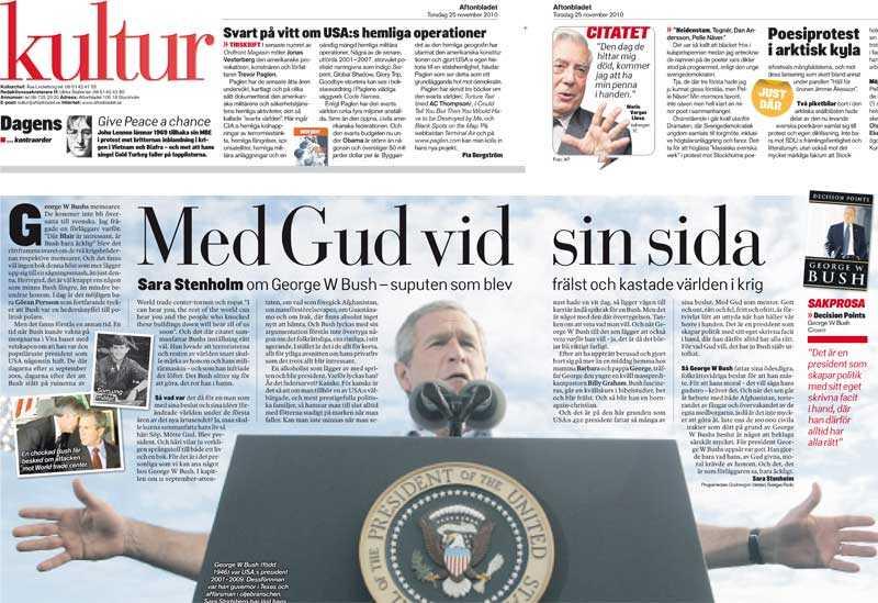Aftonbladets kultursidor 25 november.