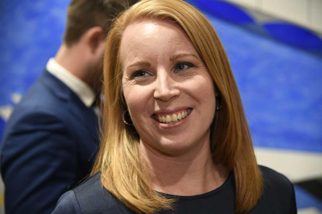 Partiledaren Annie Lööf (C).