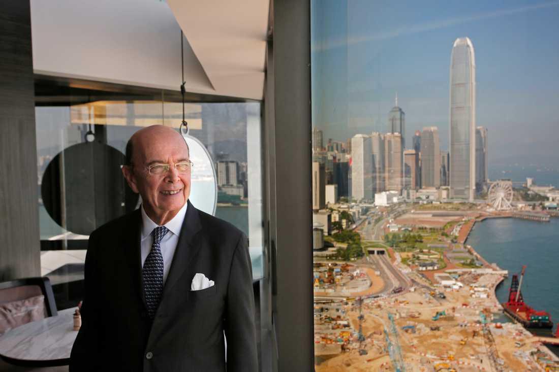 USA:s handelsminister Wilbur Ross har själv gjort affärer med det ryska gasbolaget Sibur.