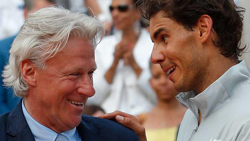 Björn Borg och Rafael Nadal 2014.
