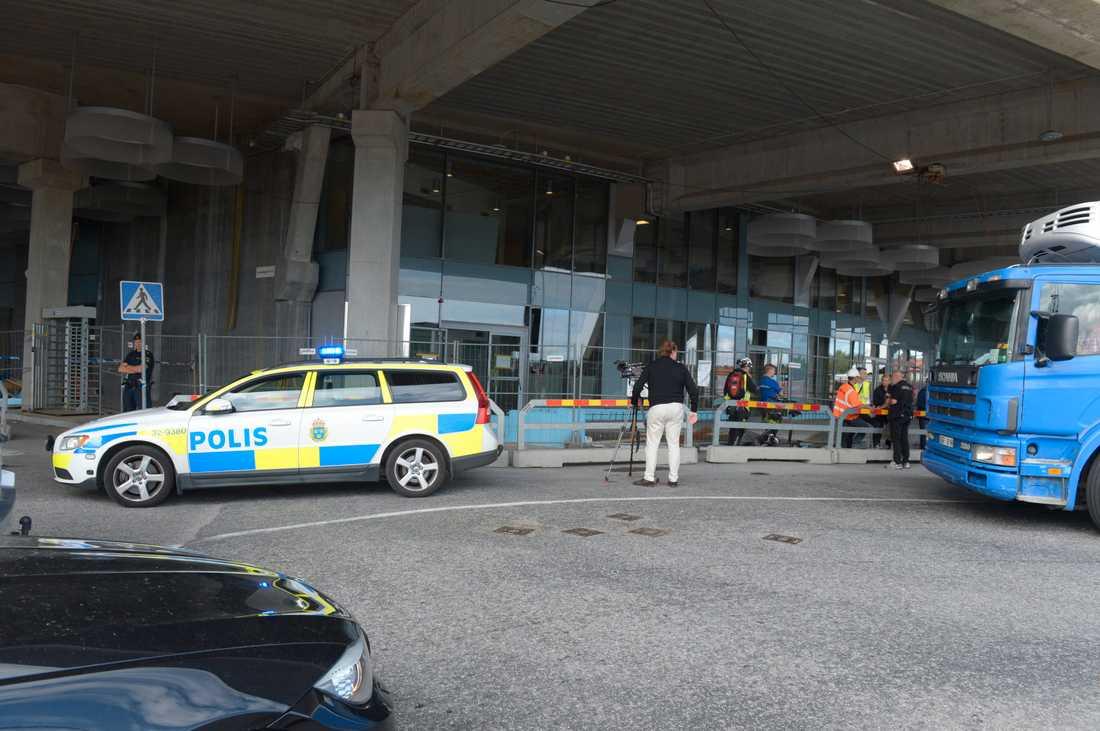 Arkivbild. Polisingripande vid Tele2 Arena.