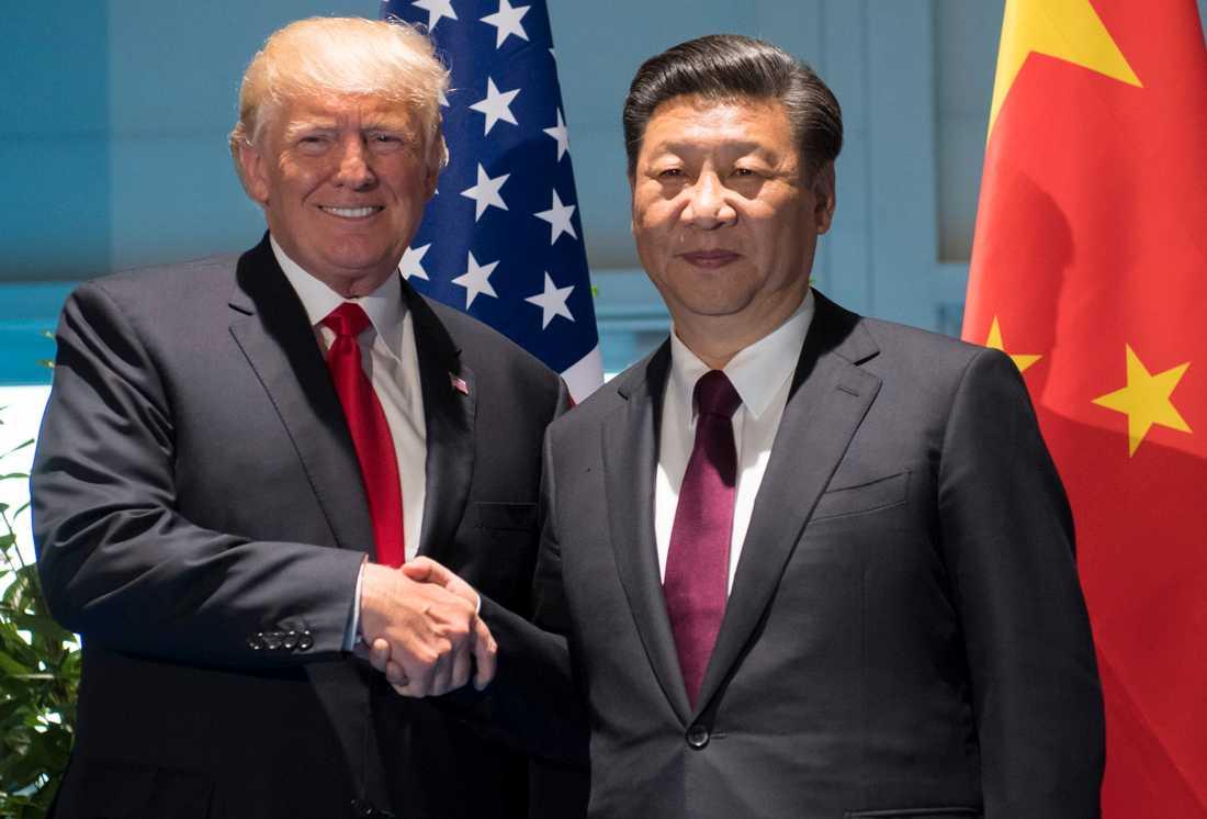 Donald Trump och Kinas president Xi Jinping.