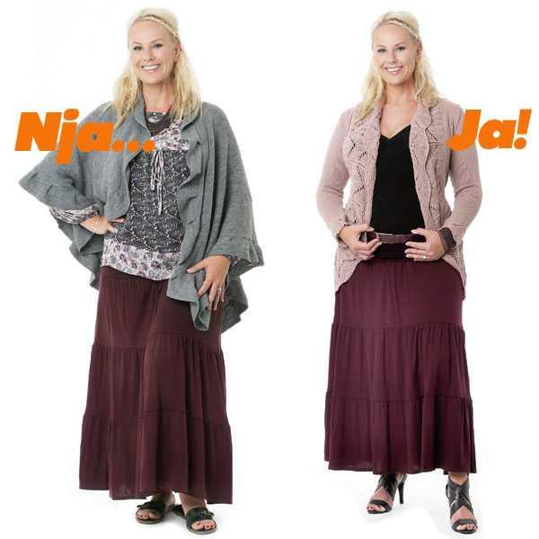 f8c4ae02faa8 Så klär du dig smal. Volangkjol, tunika och kavaj. Smart klädskola ...
