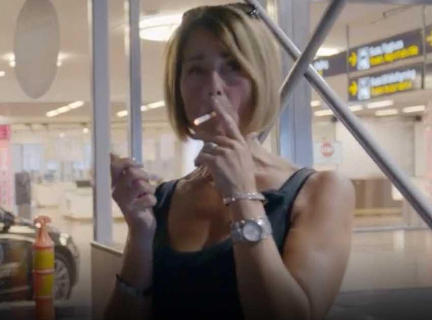 Mats Ingelborn stör sig på att Elizabeth Feurst röker.