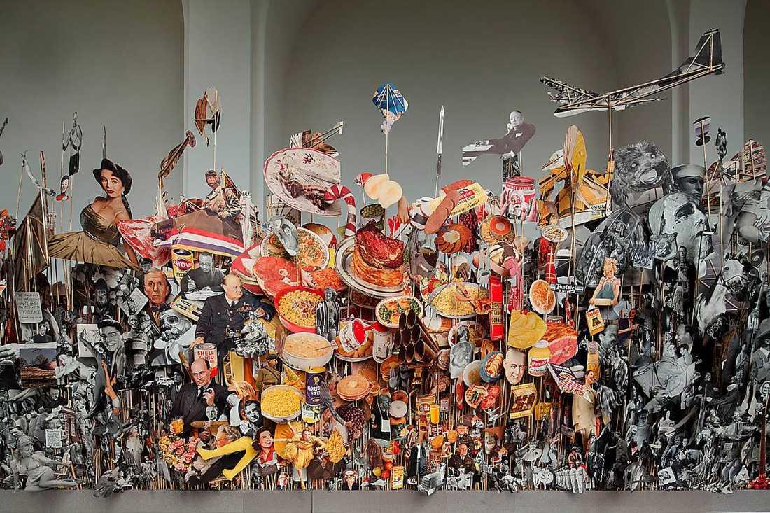 "Geoffrey Farmer: ""Leaves of Grass"", 2012, figurer klippta ur Life Magazine. Foto"