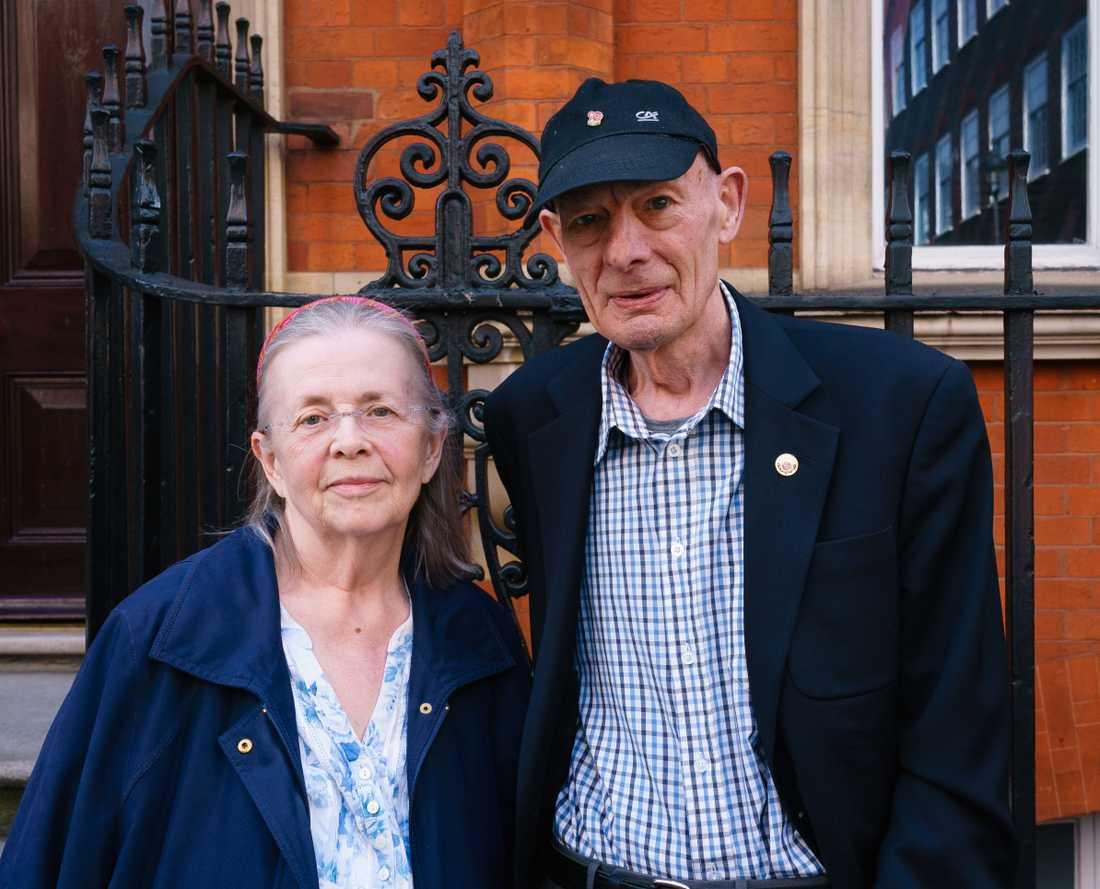 Christine James, 73 och Donald James, 81 röstar på Brexitpartiet.