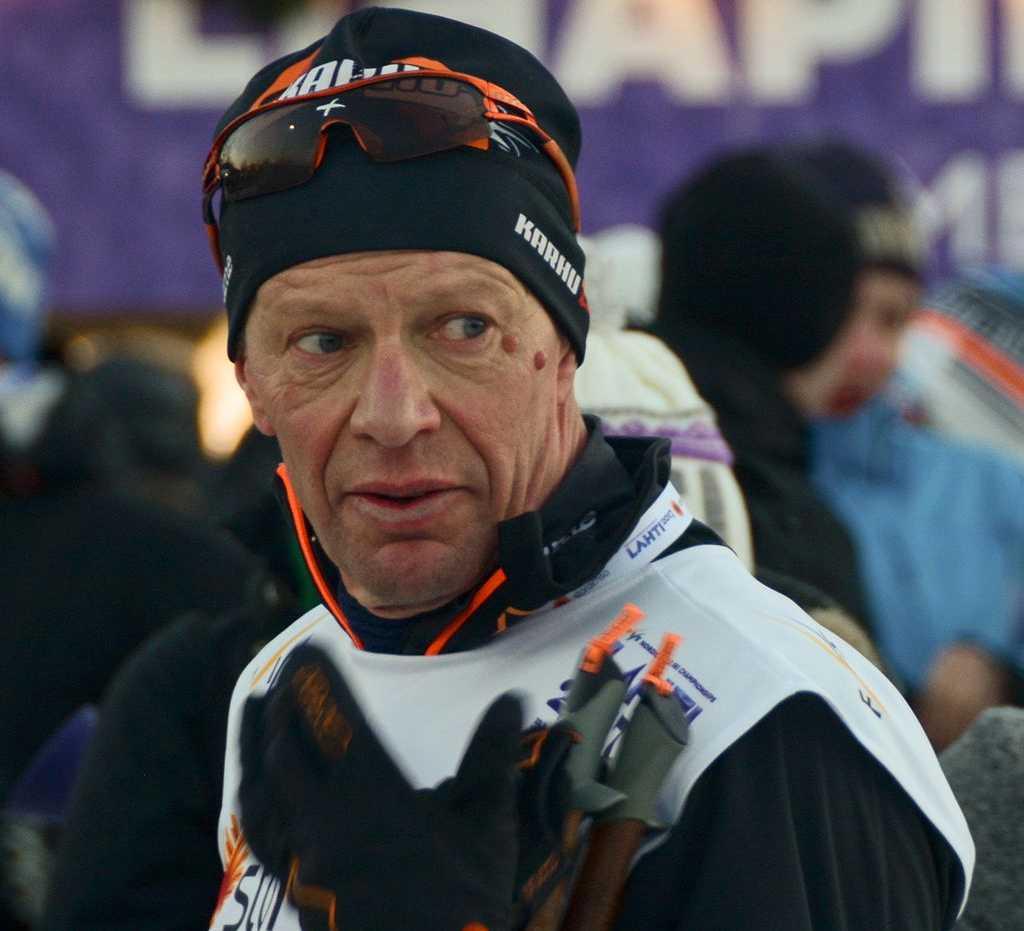 Harri Kirvesniemi på plats i Lahtis 2017.