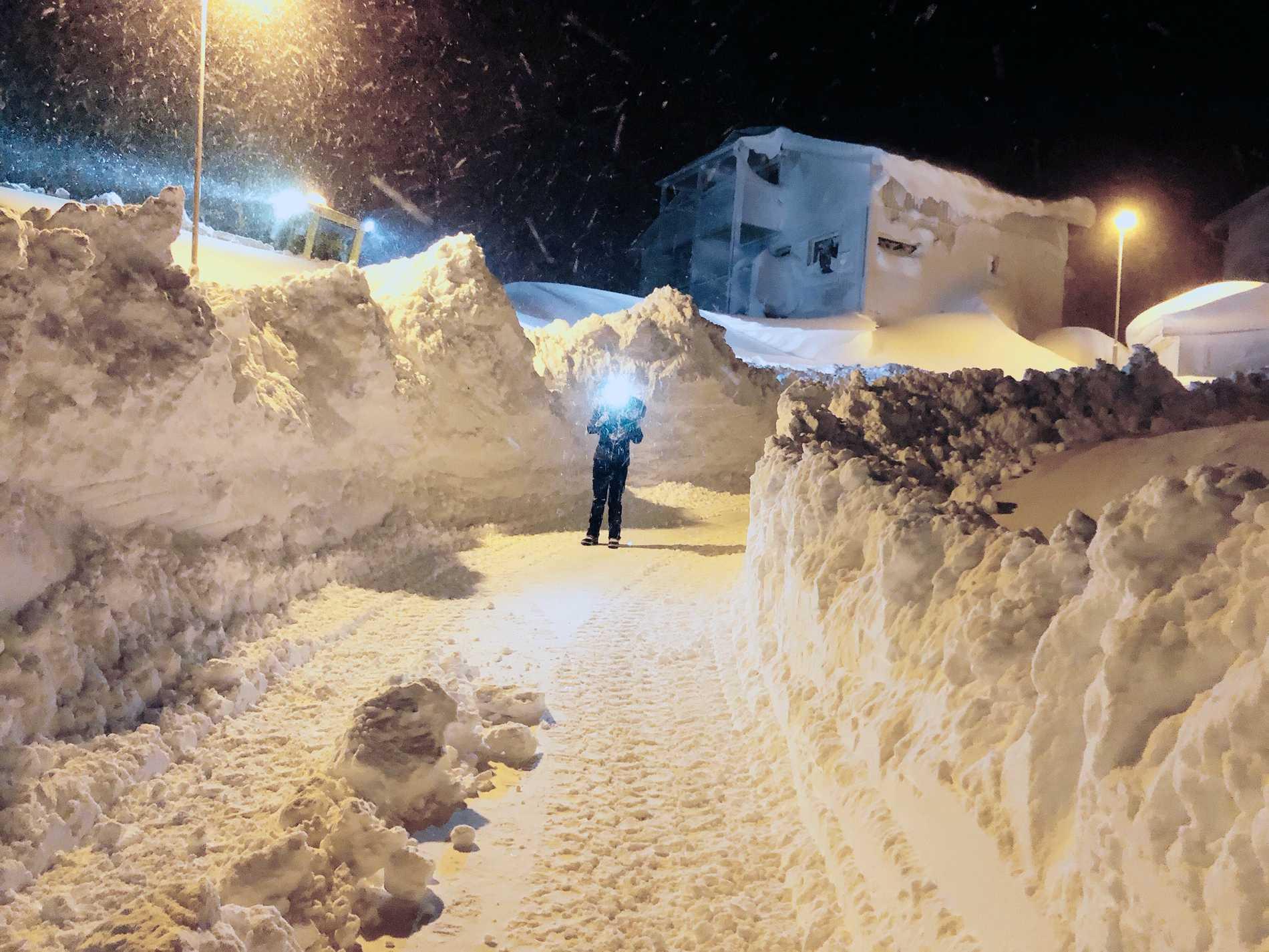 """Snöglädje i Riksgränsen: """"Ovanligt mycket för december"""""""