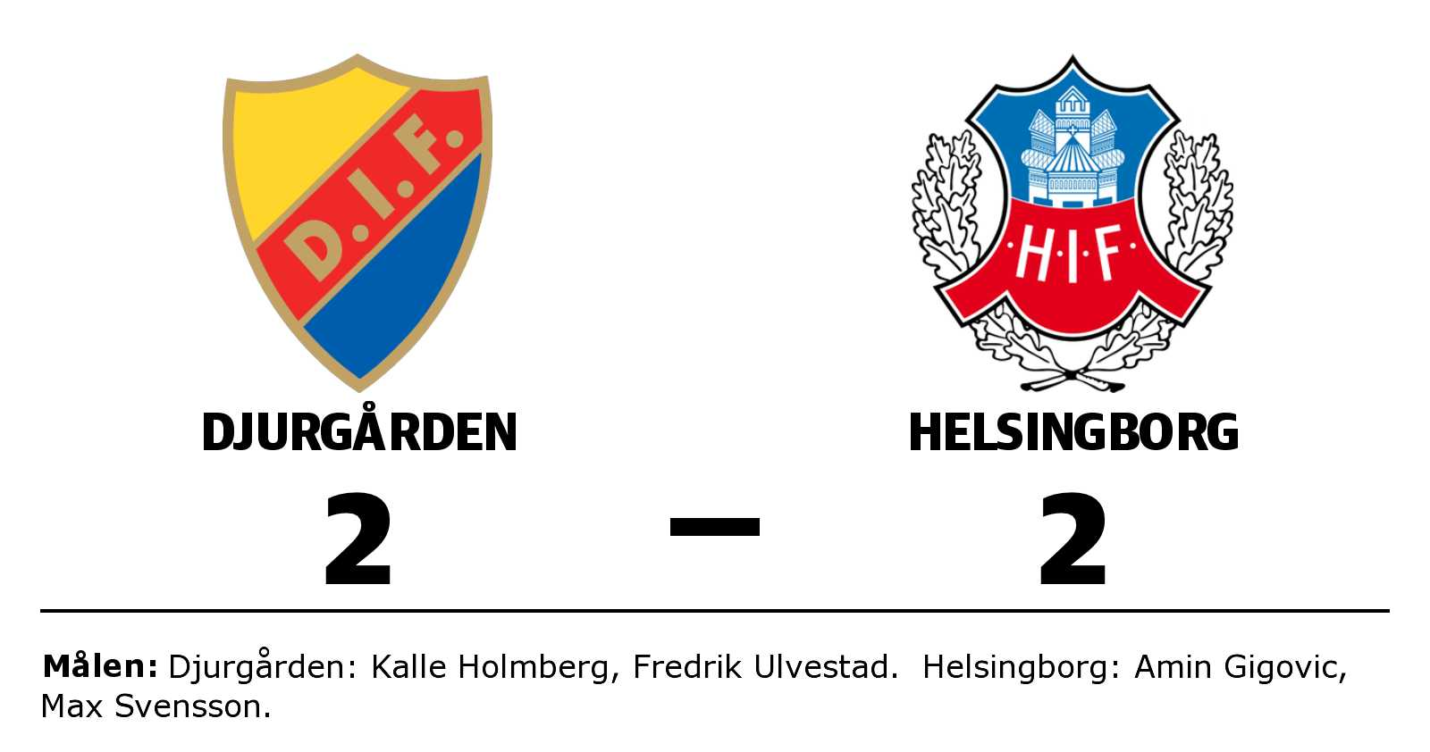 Helsingborg fixade kryss borta mot Djurgården