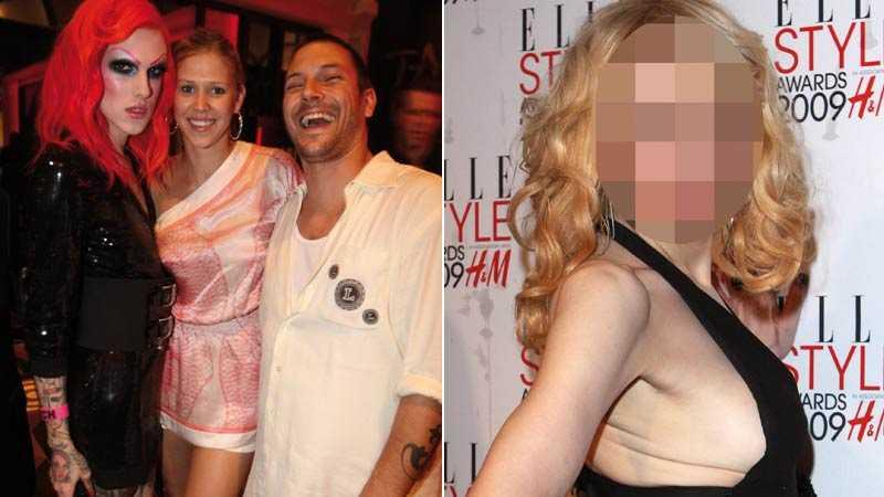 Tatuerad glädje är dubbel glädje Kevin Federline med sin flickvän (i mitten) och en tatuerad transa (till vänster). Till höger ser vi en person som utsetts till Årets kvinna på en modegala i London. Men vem är hon?