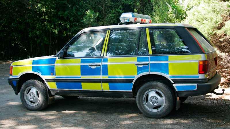 För polisen är framkomlighet a och o, Range Rover är därför en passande bil. Foto: Johannes Collin