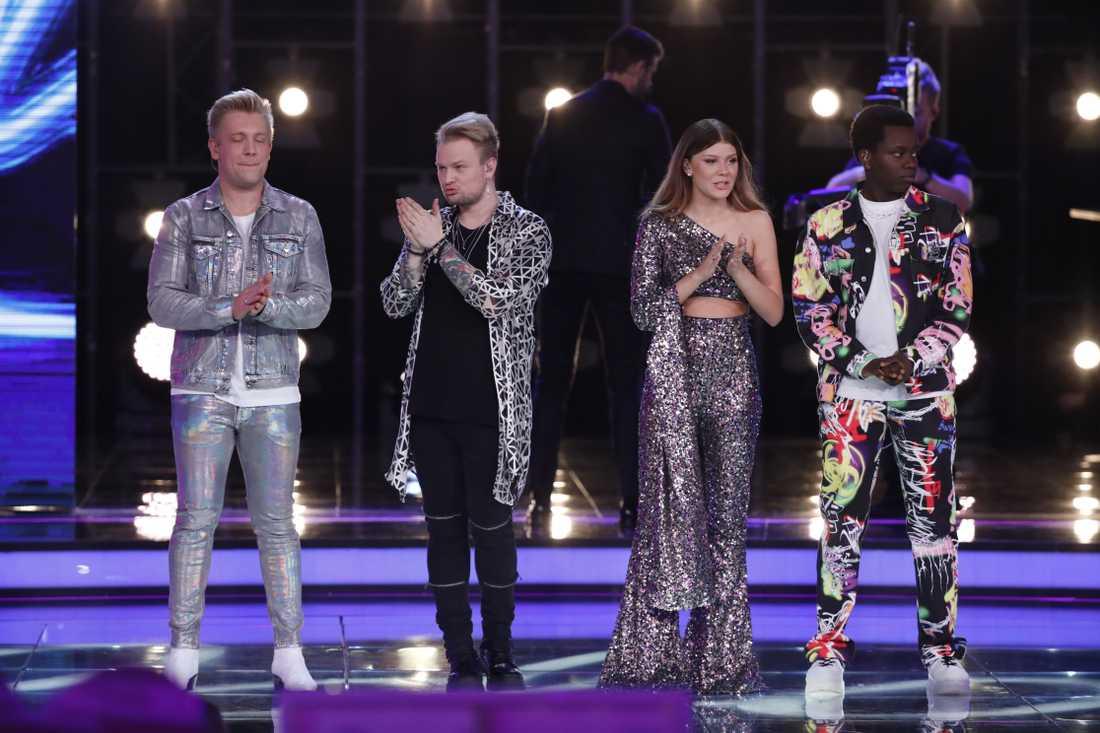 Fyra nervösa Idol-deltagare