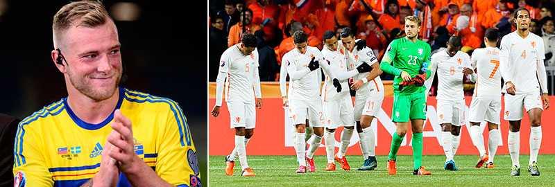 Holland är på väg att slås ut ur EM-kvalet - något som skulle öka Sveriges chanser att seedas i ett playoff.