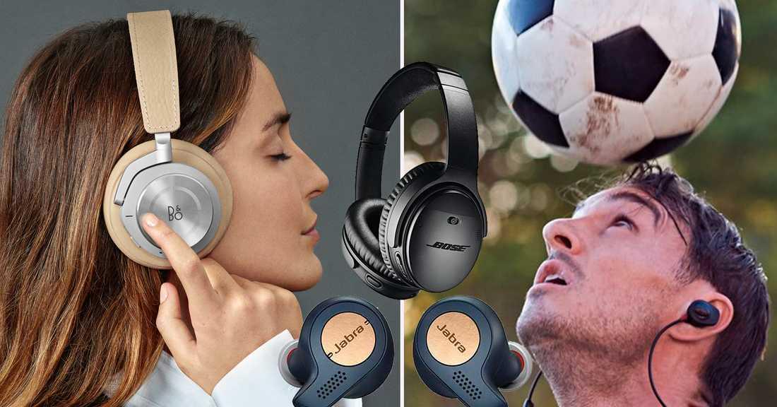 trådlösa in ear hörlurar test