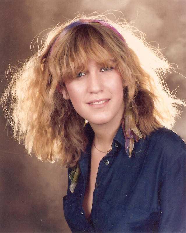 Eva Rausing som tonåring.