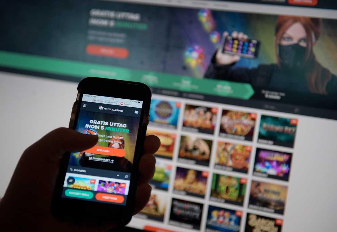Stödlinjen för spelmissbruk kontaktades av ungefär 20 procent fler förra året jämfört med 2017. Arkivbild.