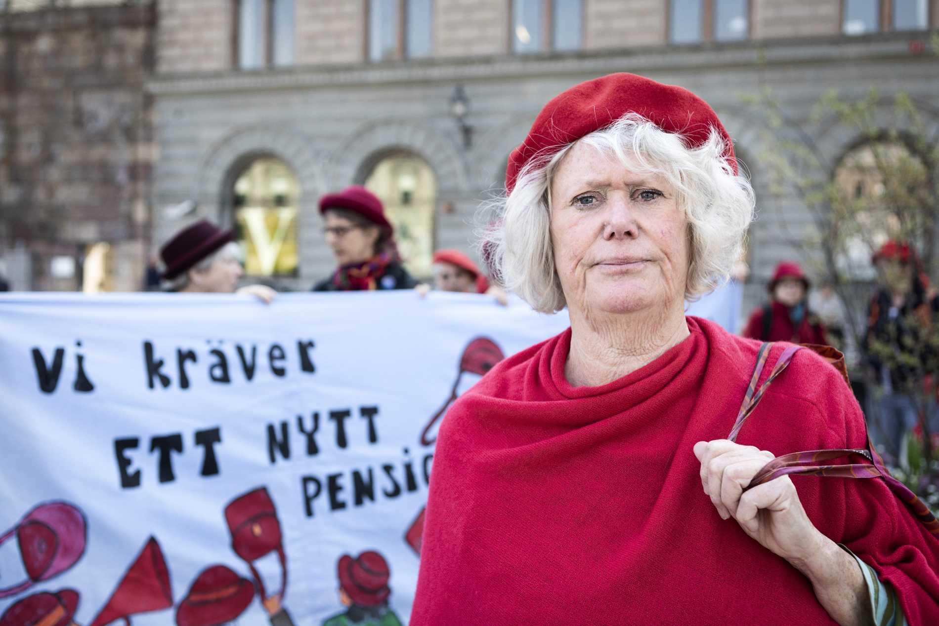 Birgitta Sevefjord, ordförande i pensionärsupproret Tantpatrullen.