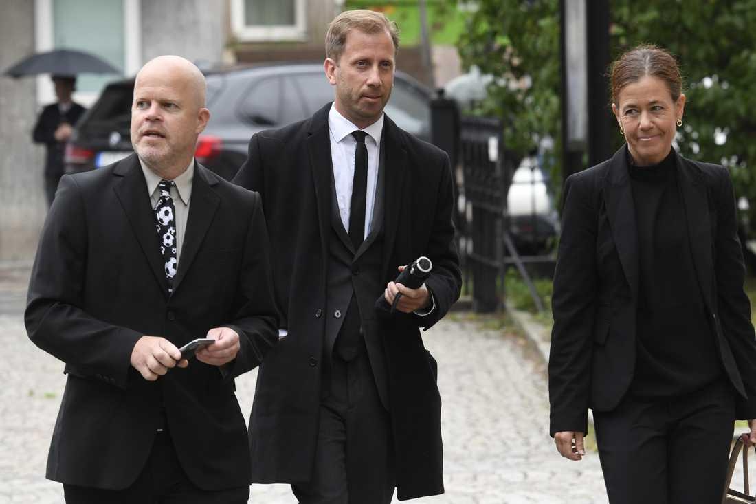 Sportbladets Jan Hagberg, Simon Bank och Petra Thorén.