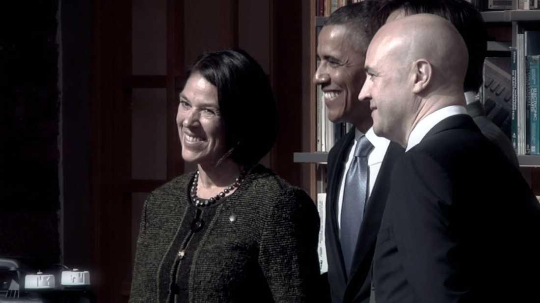 """Som president träffade Barack Obama Petra Wadström och intresserade sig för hennes uppfinning Solvatten. """"Hans pappa var uppvuxen i den byn eller det närområde där vi hade vårt första projekt"""", berättar Petra."""