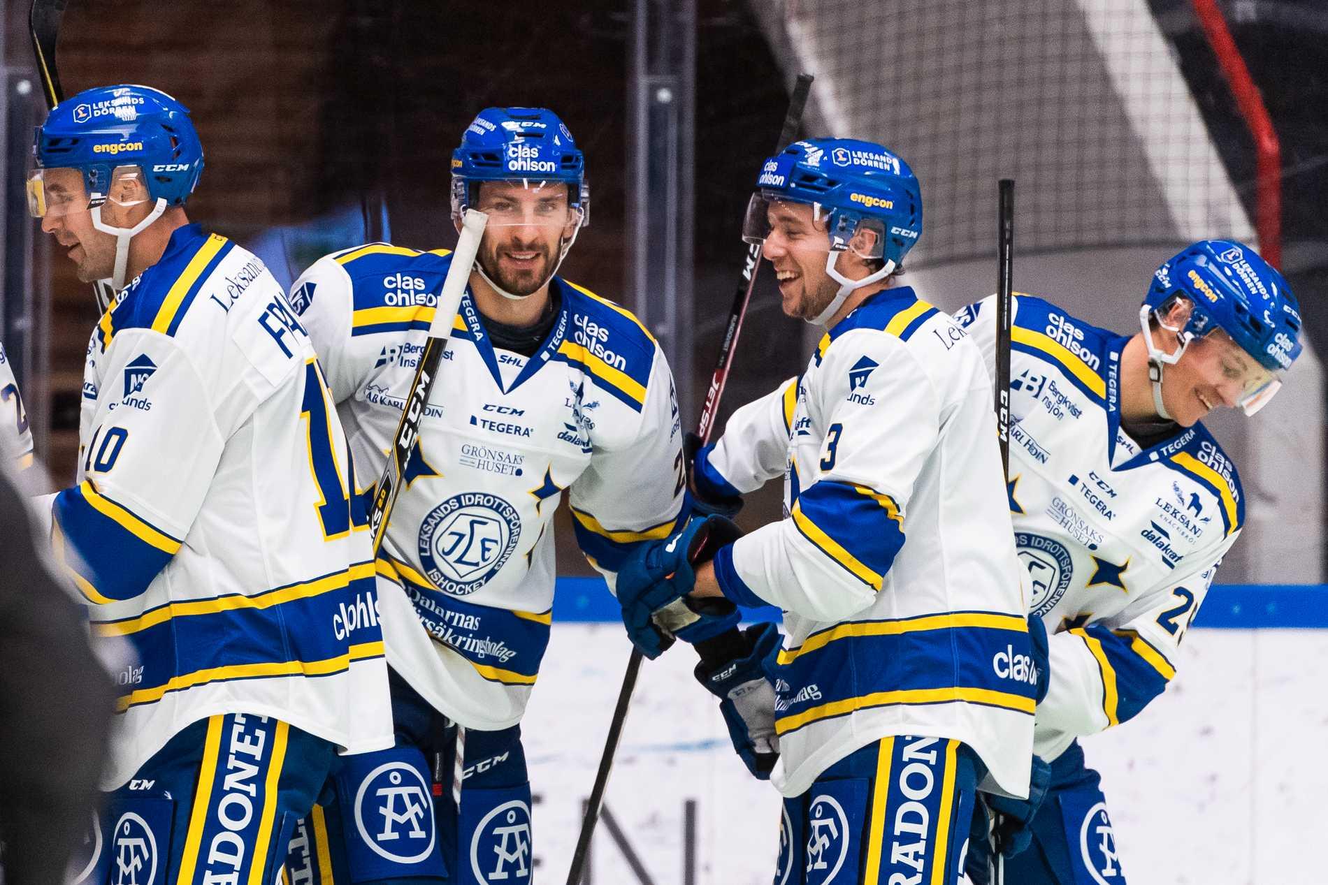 Leksands Marek Hrivik (mitten) gjorde två mål mot Södertälje.