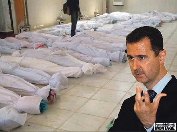 Inbördeskriget är nära I dag har det syriska upproret pågått i 501 dagar och över 13000 män, kvinnor och barn uppges ha dödats. Nu manar oppositionsgrupper till väpnad kamp mot Bashar al-Assads diktatur. OBS! Bilden är ett montage.